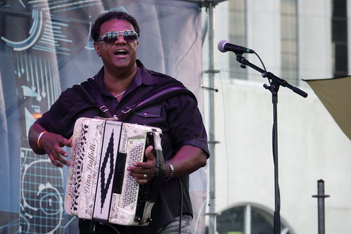 Chubby Carrier on Day 1 of French Quarter Fest - 4.11.19. Photo by Keith Hill.