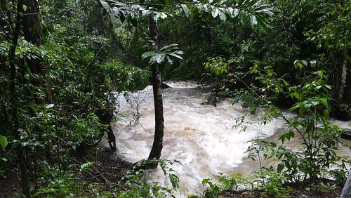 Ein kleiner Nebenfluss des Rio Xanil, Cascadas Roberto Barrios..., baden nicht ratsam