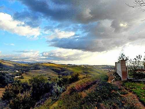 portolahills california photo digital winter clouds fence weather foothills monastery landscape