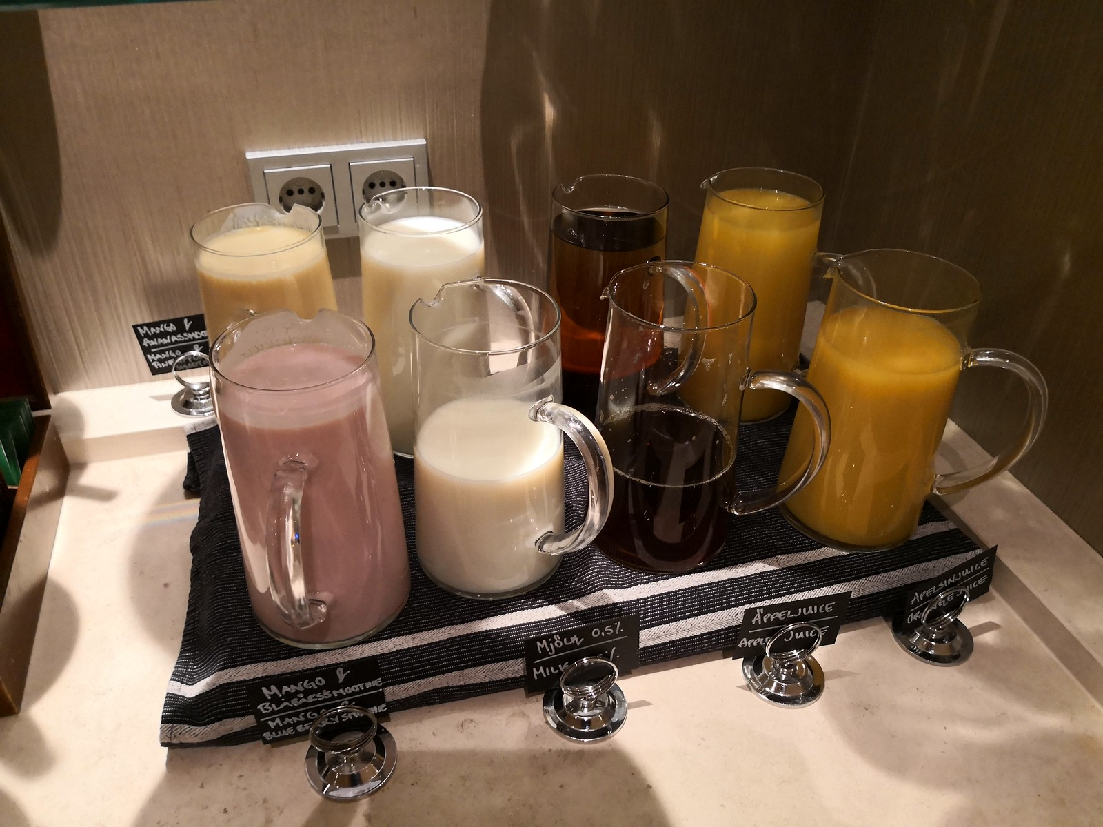 Juice, smoothies and milk