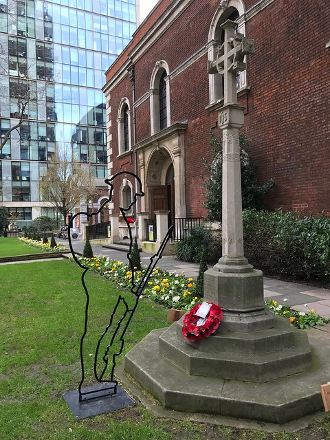 WWI soldier memorial in St Botolph churchyard