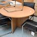 Large oak meeting table E180