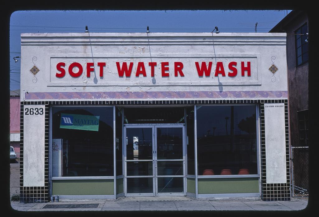 Soft Water Wash, Main Street, Ocean Park, California (LOC)