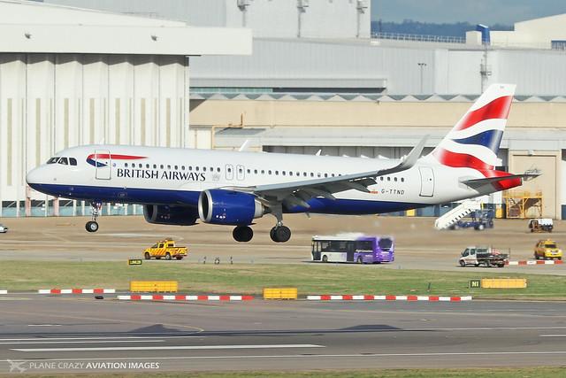 G-TTND  -  Airbus A320-251N  -  British Airways  -  LHR/EGLL 11-2-19