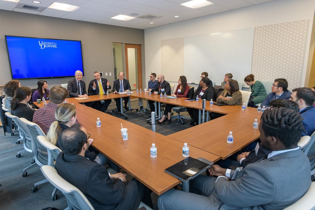 2019 3 1 NIH Director Visit | Sen  Coons and NIH Director Fr