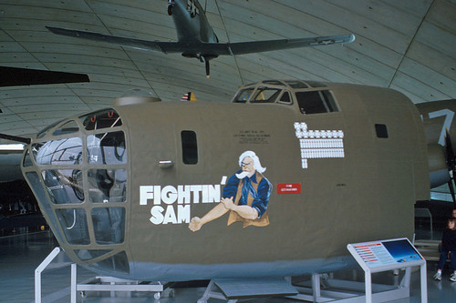 Consolidated B-24D nose at the IWM Museum, Duxford - July 2000
