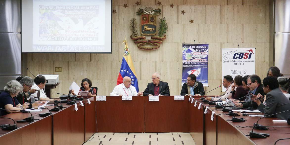 Consejo Mundial por la Paz exige cese de agresiones de EEUU hacia Venezuela