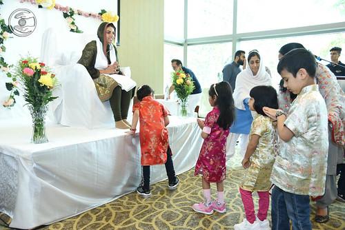 Child devotees seeking blessings