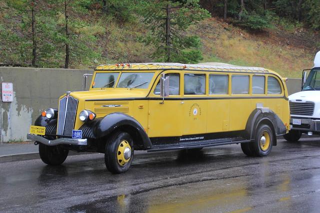 Vintage Transport, Yellowstone Park, Wyoming, USA.