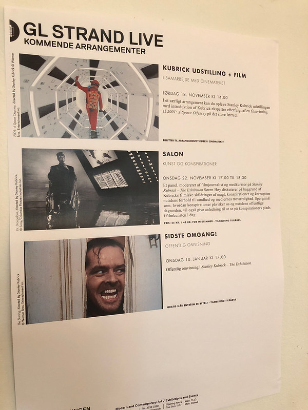 Stanley Kubrick exhibit at GL Strand art center