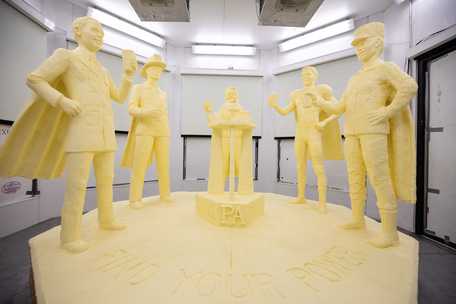 Half-Ton Butter Sculpture Highlights 'Choose PA Dairy' Campaign