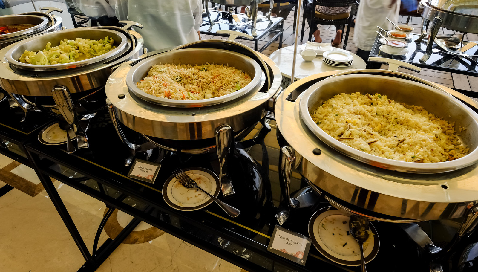 Fried rice and mee hoon