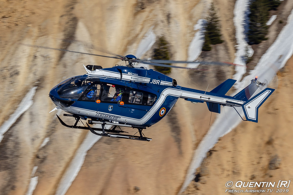 EC 145 de la Gendarmerie Nationale Fly Courchevel Canon Sigma France French Airshow TV photography Airshow Meeting Aerien 2019