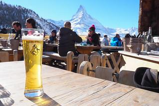 Beer at Chez Vrony, Zermatt, Switzerland   by BuzzTrips