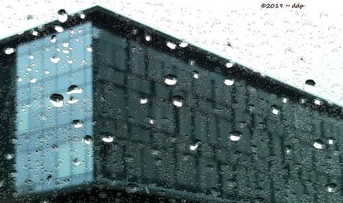Rainting of Unusually Balanced Building In Eugene