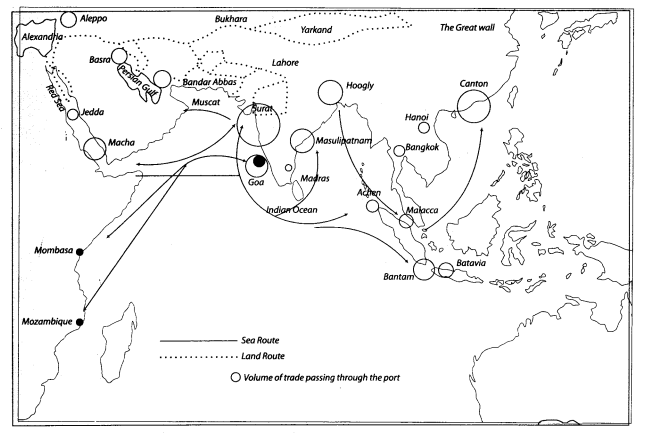 Class 10 History Map Work Chapter 4 The Making of Global World 2