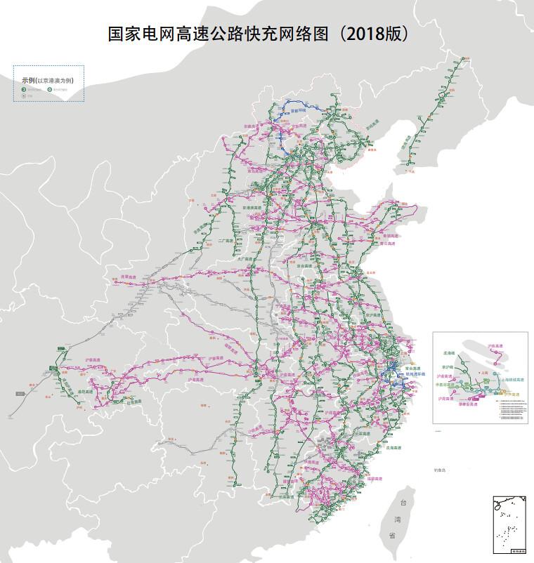 中國電網高速公路快充網絡2018
