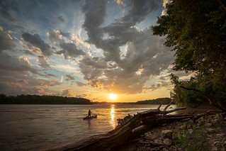 """Missouri River Sunset - 2018"" by Notley Hawkins 
