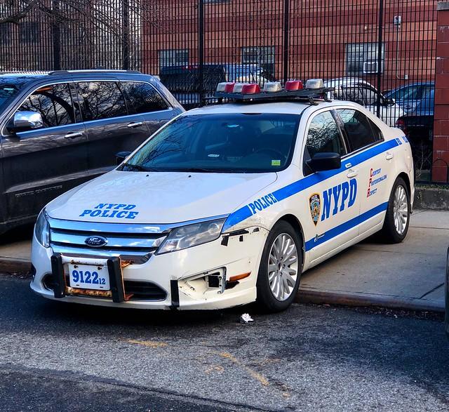 NYPD Housing Bureau Brooklyn Ford Fusion 9122