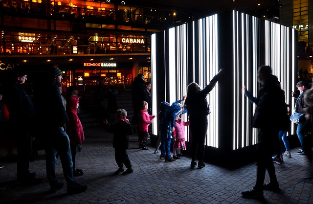 Interactive Stripes of Light