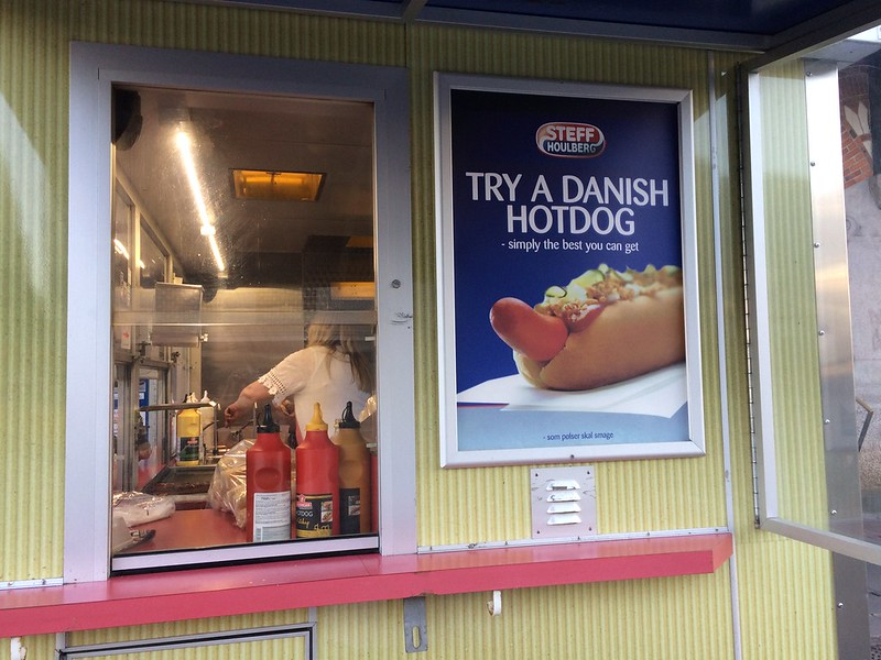 Danish Hot dog sign