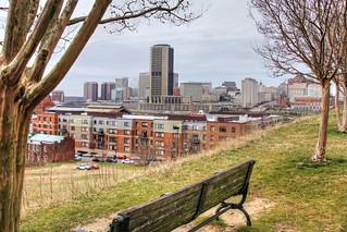City Skyline from Jefferson Park-Church Hill-Richmond Virginia 03622