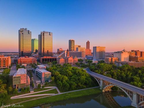 Fort Worth Skyline Sunset N Drone