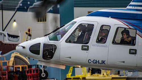 Nose of @HeliJet S-76C++ Lifting Up