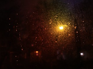 A light in the #rain | by David Chartier