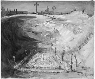 Memorial for the Second Canadian Division in a Mine Crater near Neuville St. Vaast / Service commémoratif pour la Deuxième Division canadienne célébré dans un cratère de mine près de Neuville-St-Vaast