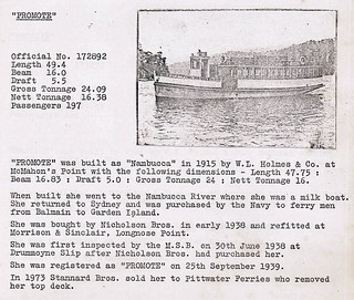 'Promote' story of Nicholson Bros. Harbour Transport