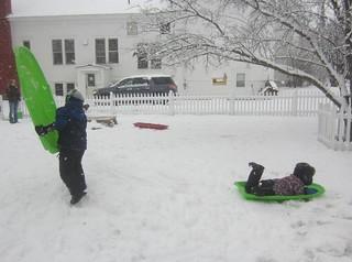 sledding on fresh snow | by lyn.schmucker