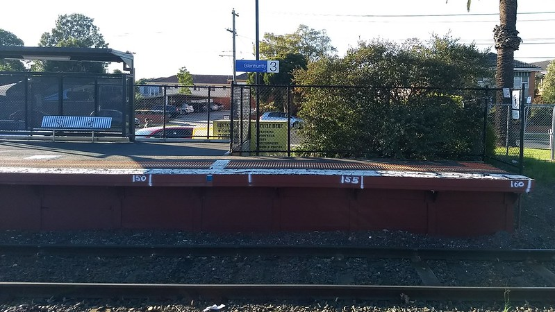 Platform measurements, Glenhuntly