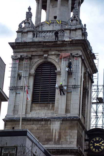 Cleaning St. Mary-le-Bow