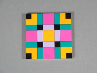 8x8 Quilt Block LEGO Mosaic