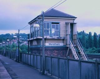Merstham signalbox in 1971 | by Tom Burnham