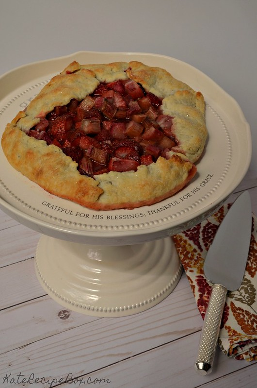 Strawberry Rhubarb Galette 1