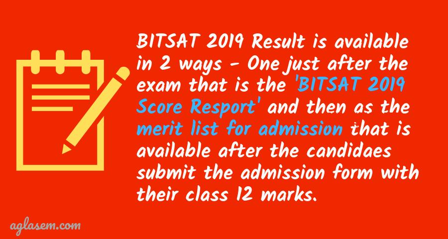 BITSAT 2019 Result