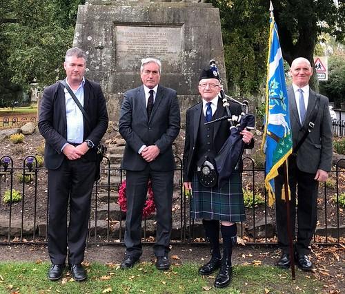 Participating in Haddington thistles ceremony | by Iain Gray MSP