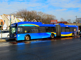 """2016 New Flyer """"Xcelsior"""" XD60 5370 on the Q52 SBS at Woodhaven Boulevard & Everton Street 