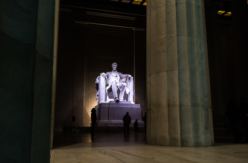 Lincoln Memorial in Washington, DC, Nov. 2018