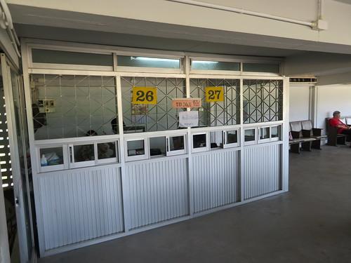 チェンマイ競馬場のクーラー付特観席の馬券売場
