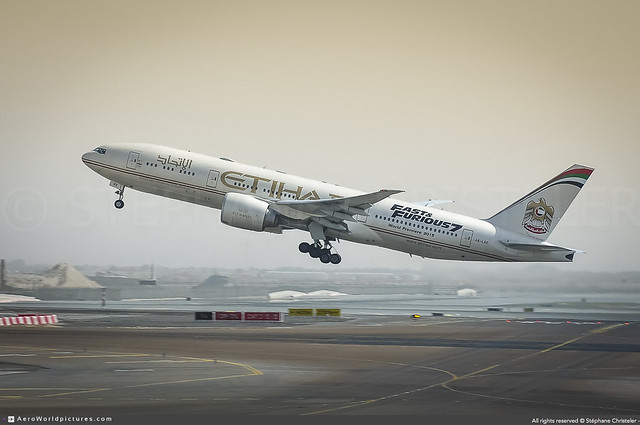 [AUH.2015] #Etihad.Airways #EY #Boeing #B777 #B772LR #A6-LRE #Fast.&.Furious.7 #FF7 #awp