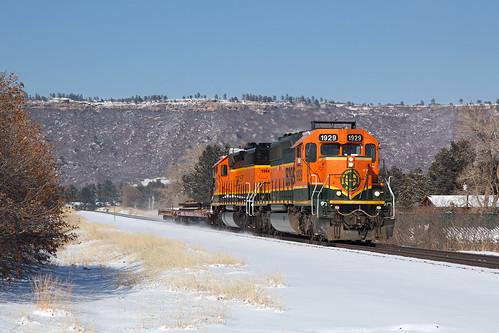 bnsf bnsf1929 emd sd402 larkspur colorado jointline pikespeaklocal train railroad
