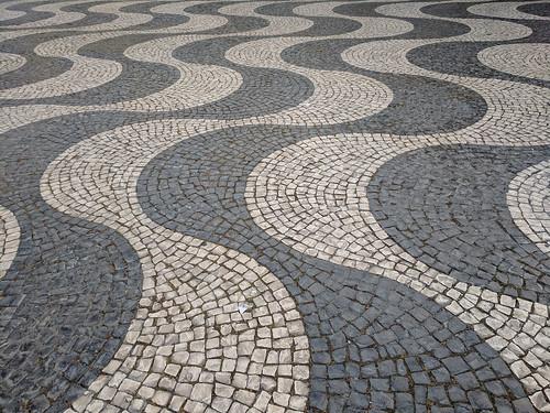 wavy tile work @ Square Dom Pedro IV