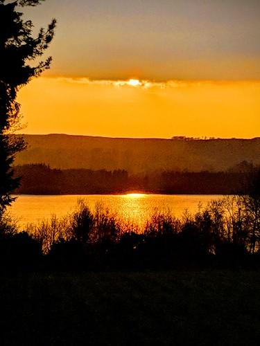 lake water sunset wicklow blessington