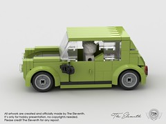 MOC working progress Minicooper classic from Mr. Bean  #theeleventh #the11th #art #design #minicooper #mini #mrbean #legomalaysia #legomoc #lego #moc