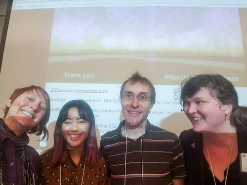 Community Engagement Conference presentation of ARTrees project | by Amy M. Youngs