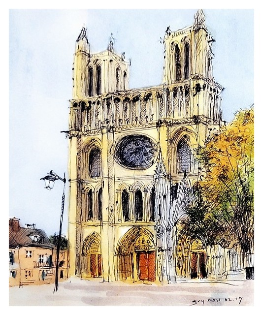 Mantes - France - collégiale Notre Dame