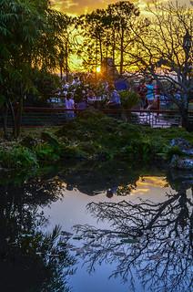 China Pavilion water reflection sunset Epcot | by gamecrew7